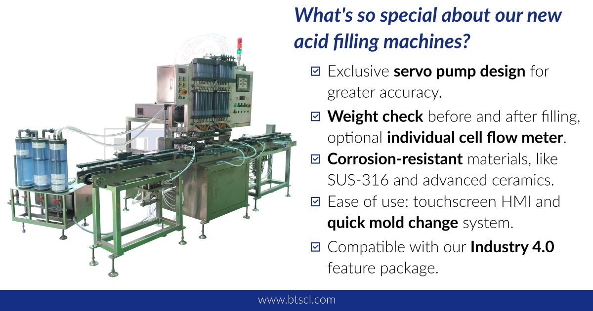 BTS acid filling machines in a nutshell