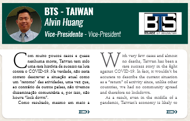 BTS CEO Alvin Huang was featured in Pb Magazine