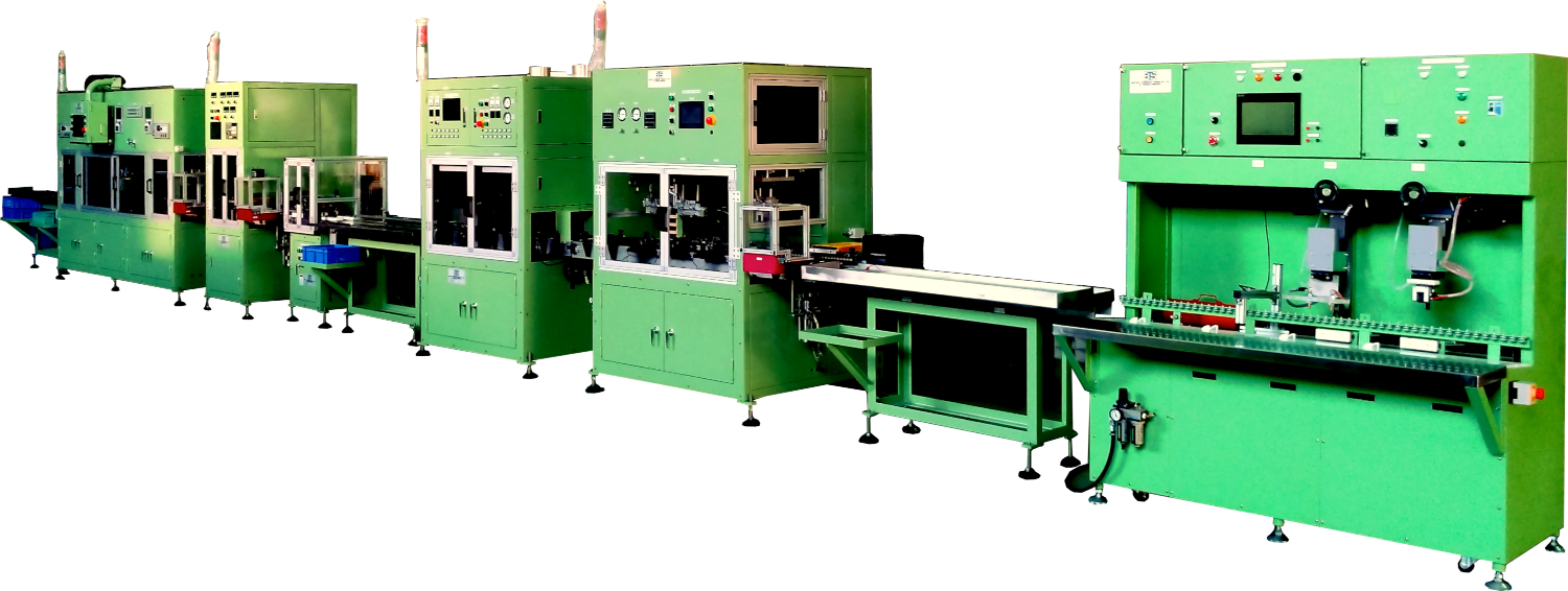 One of our latest motorcycle battery assembly lines